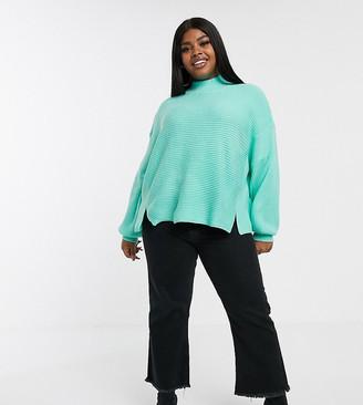 ASOS DESIGN Curve sweater with split hem