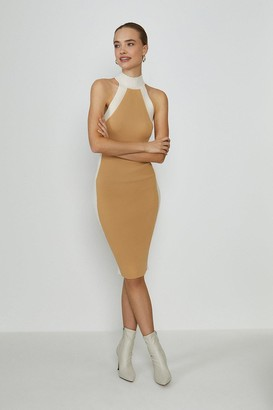 Coast High Neck Knitted Rib Mono Dress