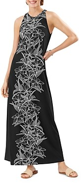 Tommy Bahama Midnight Blooms Printed Maxi Dress