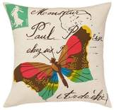 Amity Home Yuma Butterfly Throw Pillow in Ivory