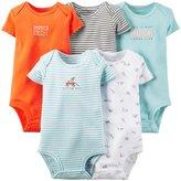 Carter's 5 Pack Bodysuits (Baby) - Light Blue-12 Months