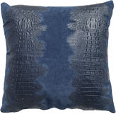 Le-Coterie Croc Suede Pillow, Navy