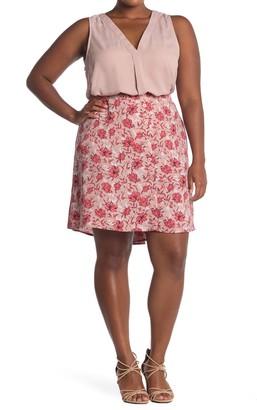 Halogen Button Front Skirt (Plus Size)