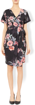 Monsoon Florence Floral Print Wrap Dress