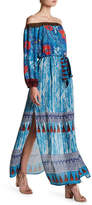 Flying Tomato Printed Off-the-Shoulder Maxi Dress