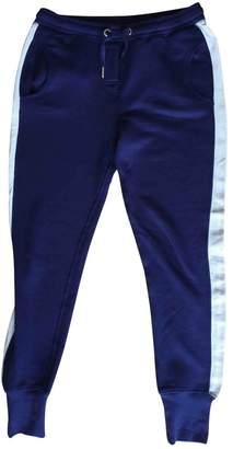 Zoe Karssen Blue Cotton Trousers for Women