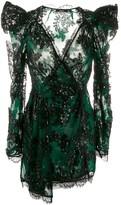 Amen lace trim party dress