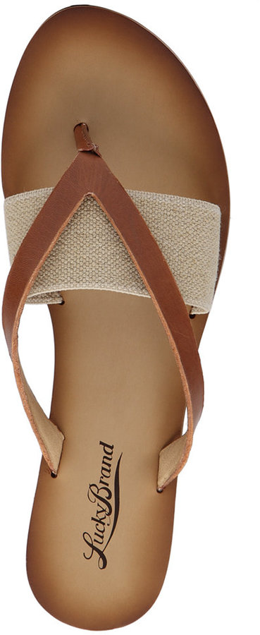 Lucky Brand Women's Baxx Flat Thong Sandals