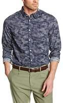 Garcia Men's Slim Fit Long Sleeve Leisure Shirt - Blue -