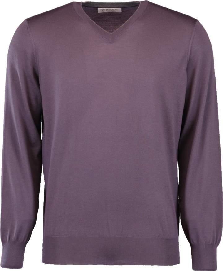 V-Neck Fine Gauge Sweater