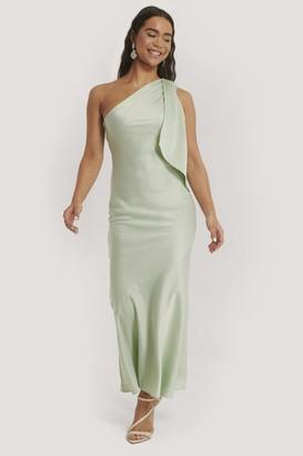NA-KD One Shoulder Satin Maxi Dress