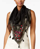 INC International Concepts I.N.C. Floral Embroidered Triangle Scarf, Created for Macy's