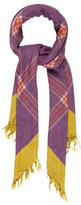 Etro Checked Cashmere-Blend Scarf