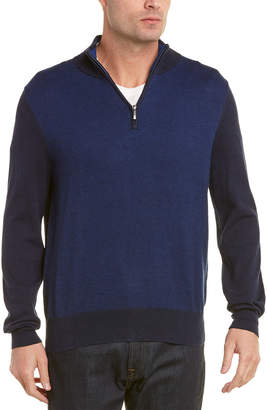 Brooks Brothers Cashmere-Blend 1/2 Zip Sweater