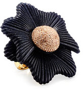 Lele Sadoughi Sugarbush Petal Ring, Dark Blue, Size 7