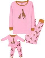 Leveret Giraffe Pajama & Matching Doll Pajama Set (Toddler, Little Girls, & Big Girls)