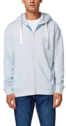 Esprit edc by Men's 068cc2j001 Sweatshirt, (Light Blue 440), Large