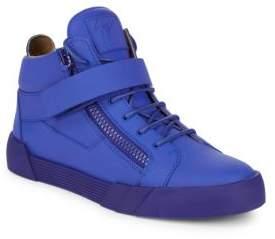 Giuseppe Zanotti Tonal Double-Zip Mid-Top Sneakers