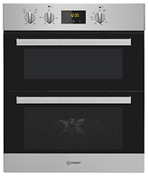 Indesit IDU6340IX Built-Under Double Oven, Stainless Steel