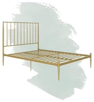 Julianna Platform Bed Foundstone Size: Queen, Color: Gold