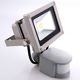 Sourcing4U X1-10w-FL-GR-C-PIR 10 W LED Floodlight in Grey with Pir, Cool White