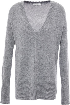 Autumn Cashmere Distressed Melange Knitted Sweater