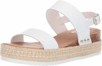 Steve Madden Catia Wedge Sandal White Leather 7.5