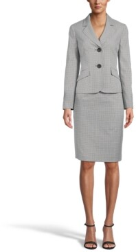Le Suit Two-Button Skirt Suit