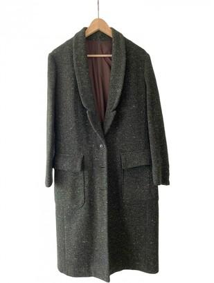 Free People Khaki Wool Coats
