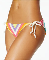 Bar III Crochet Side-Tie Bikini Bottoms, Only at Macy's