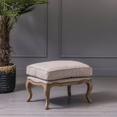 Graham and Green Antoine Footstool In Hemp