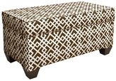 Skyline Furniture Storage Bench in Luke Chocolate