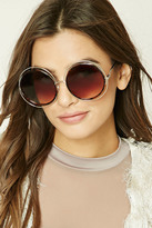 Forever 21 FOREVER 21+ Round Cutout Sunglasses