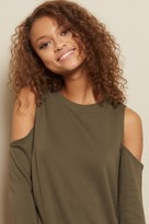 Garage Cold Shoulder Sweatshirt Dress