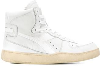 Diadora Lace-Up High-Top Sneakers