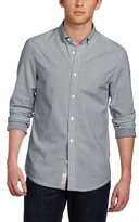 Original Penguin Men's Oxford With Gingham Rollover Detail Long-Sleeve Shirt