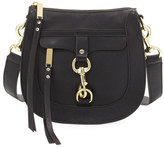 Rebecca Minkoff Leather Dog Clip Saddle Bag, Black
