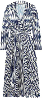 Valentino Printed Stretch-jersey Wrap Dress