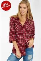 Select Fashion Fashion Womens Red Brushed Check Shirt - size 8