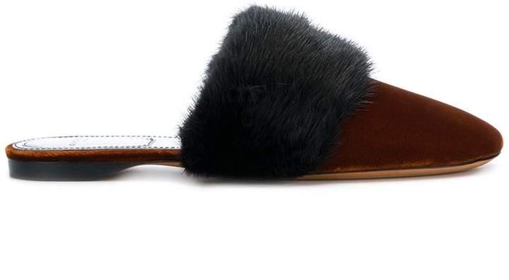 Givenchy fur trim mules