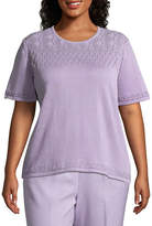 Alfred Dunner Roman Holiday Pointelle Sweater- Plus