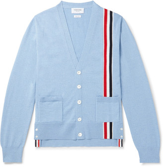 Thom Browne Striped Merino Wool Cardigan