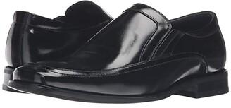 Stacy Adams Felton Moc Toe Double (Black) Men's Slip-on Dress Shoes