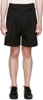 J.W.Anderson Black Pleated Wide-leg Shorts