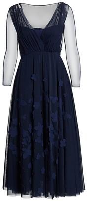 Chiara Boni Kirim Illusion Pleated Midi Dress