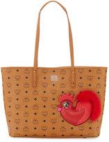 MCM New Year Series Medium Top-Zip Shopper Bag, Cognac