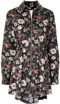 Adam Lippes Zipped Floral Jacket
