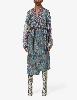 Dries Van Noten Sequin-embellished mesh maxi dress