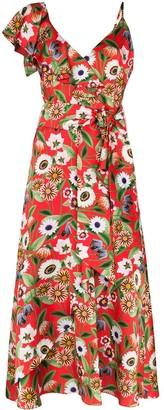 Borgo de Nor Isadora ruffled floral-print midi dress