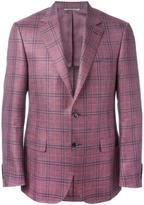 Canali plaid blazer - men - Silk/Linen/Flax/Cupro/Wool - 48